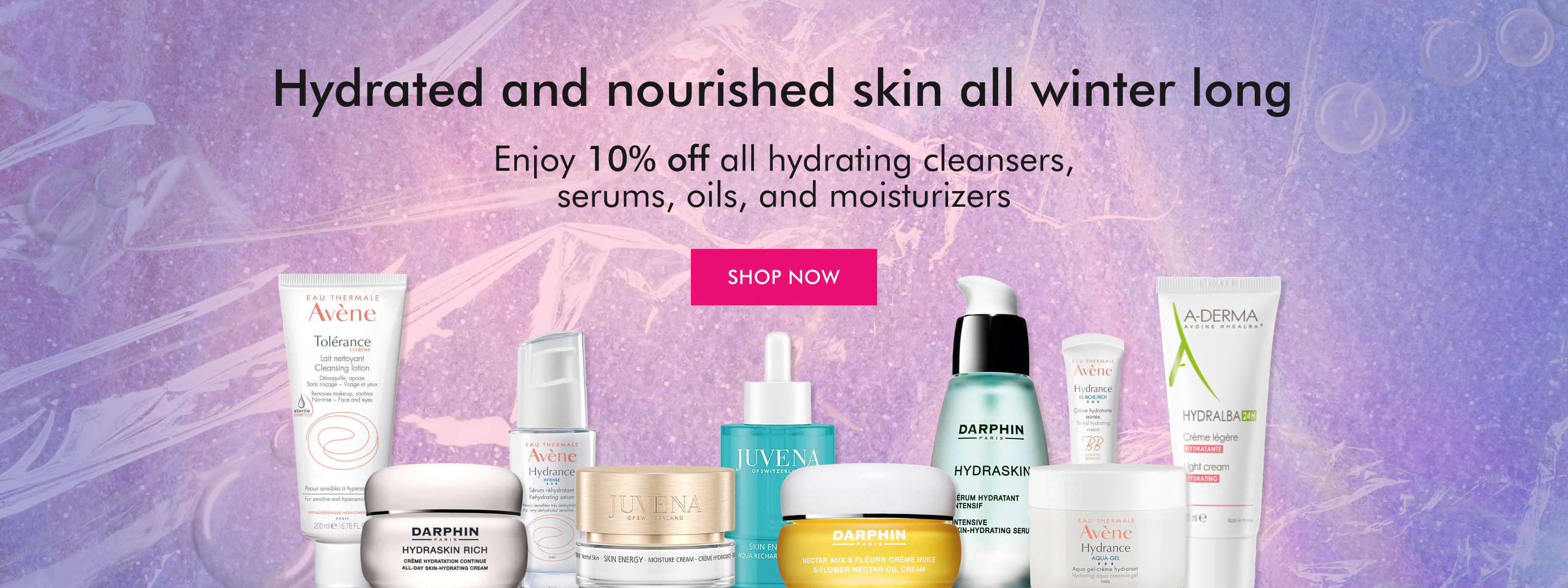 Enjoy 10% off winter skincare this month